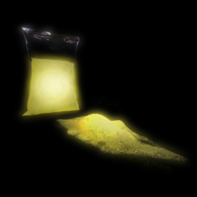 TFC Nachleuchtpigment Leuchtpulver Farbe in der Nacht gelb