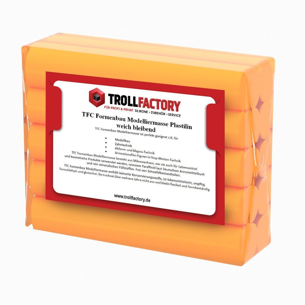 TFC Formenbau Modelliermasse orange Plastilin weich bleibend
