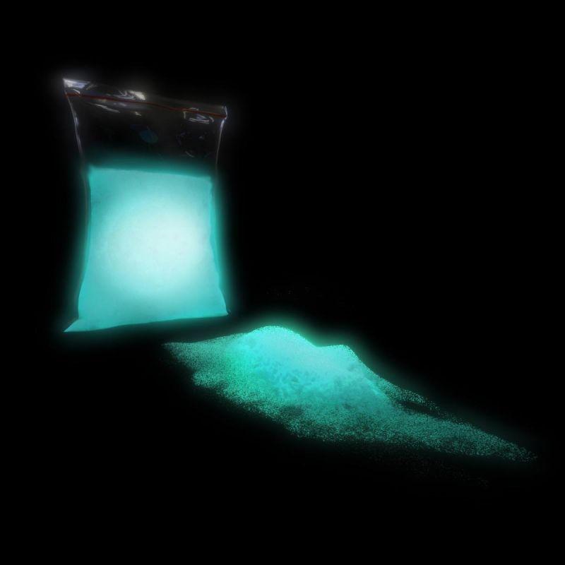 TFC Nachleuchtpigment Leuchtpulver Farbe in der Nacht blau-grün
