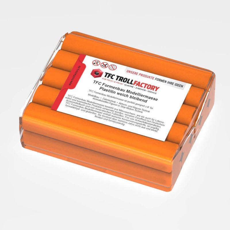 TFC Formenbau Modelliermasse orange Plastilin weich bleibend schwefelfrei