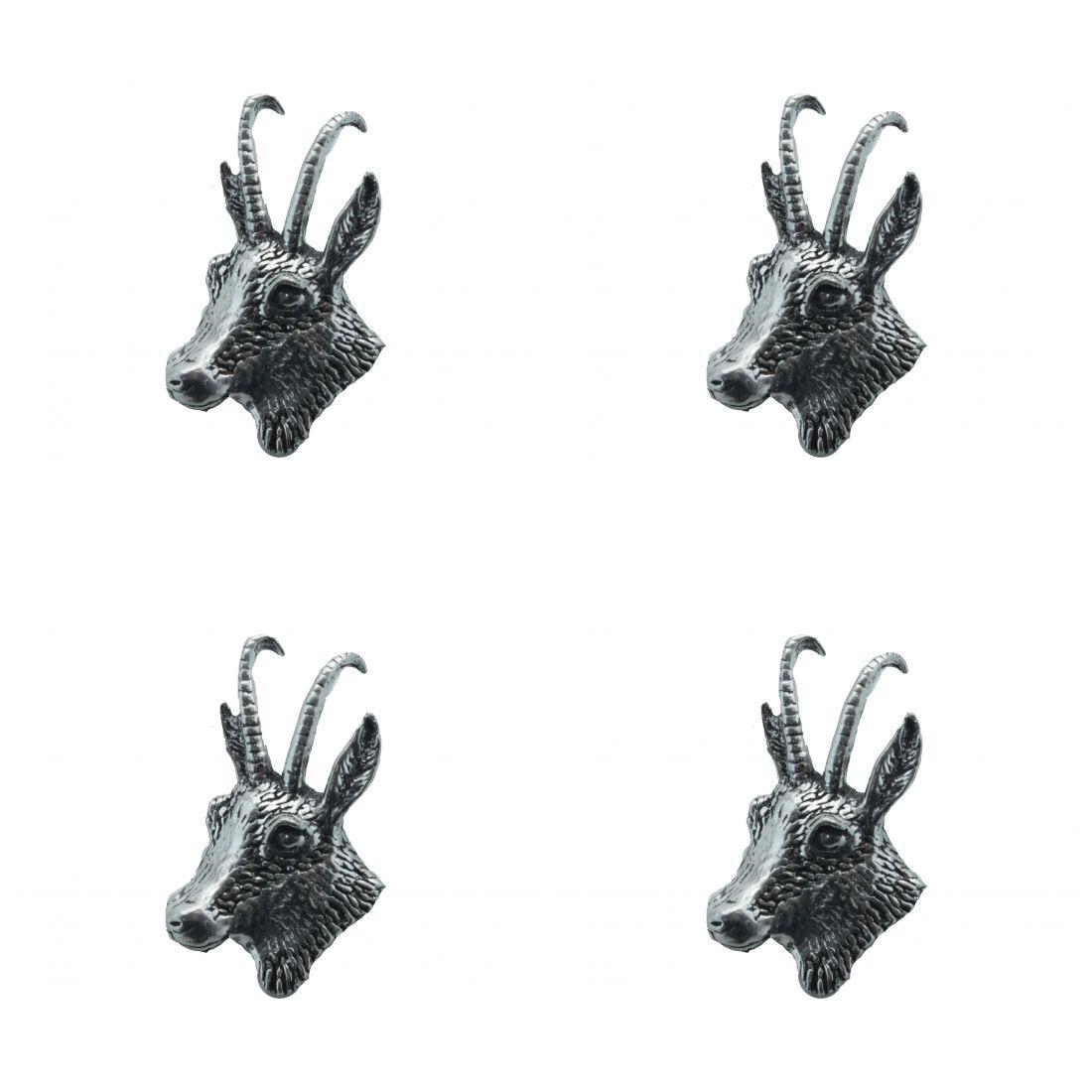 4x Pin Anstecker Badge Gemse links, 2x3cm