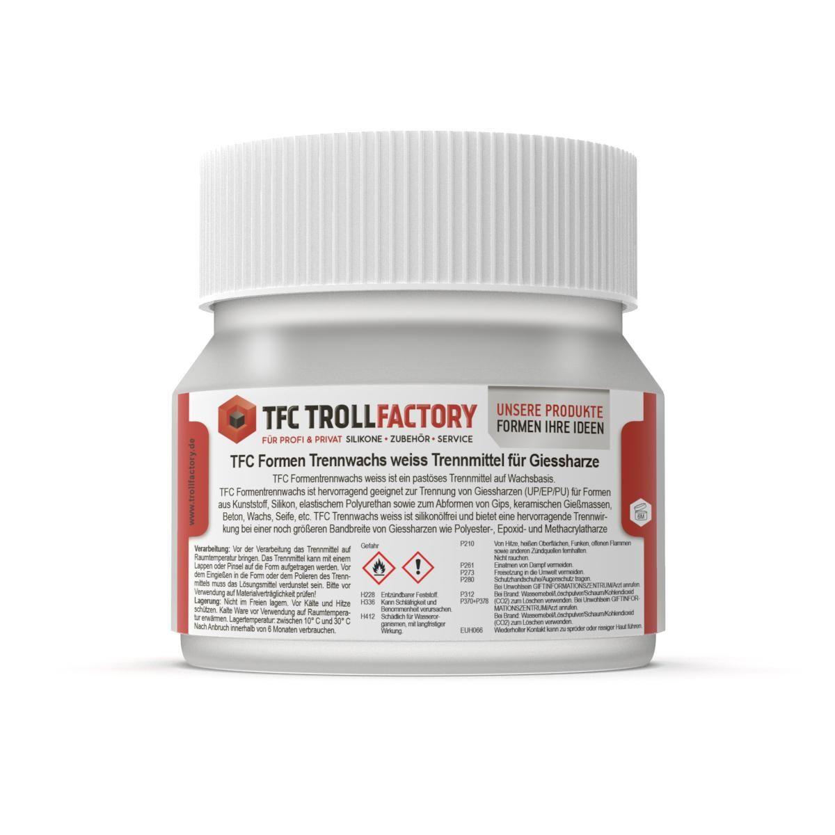 TFC Formen Trennwachs weiss Trennmittel für Giessharze 50g
