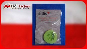 SILLI Silikonform Lebensmittel Alte Rose, ca. 3,8x 3,6cm