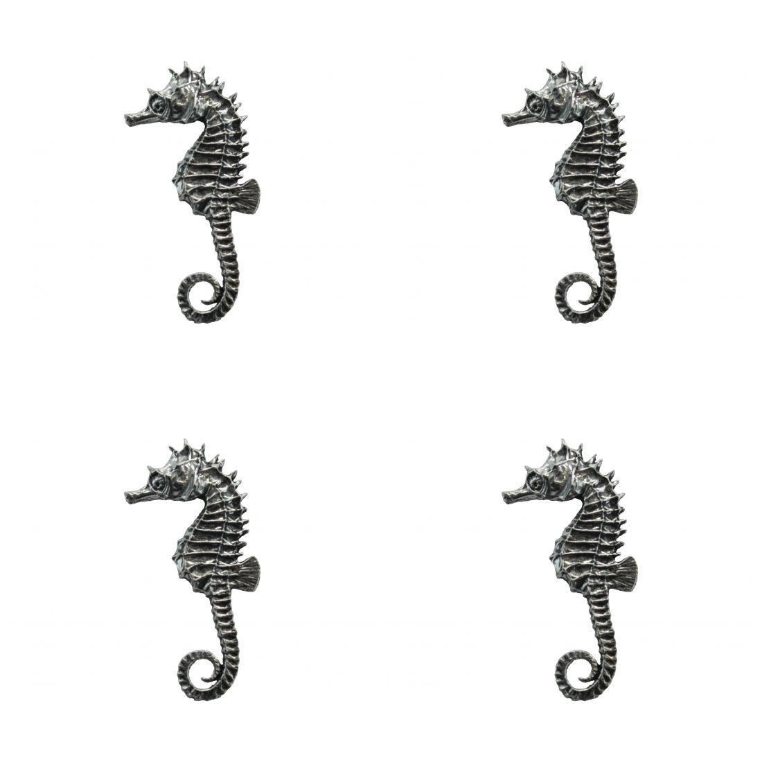 4 x Pin Anstecker Badge Seepferdchen, 3x5,5cm