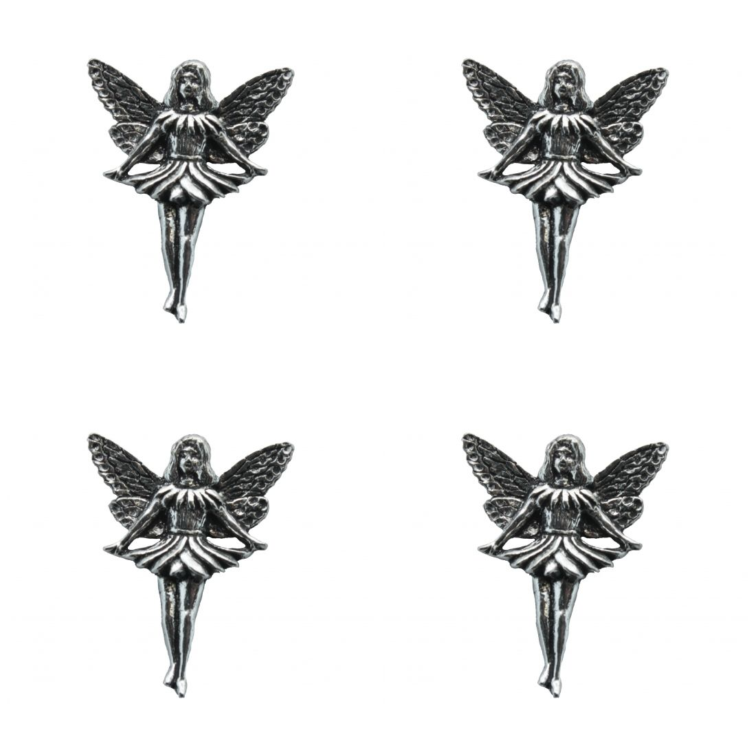 4 x Pin Anstecker Badge Elfe Ballerina, 3x3,8cm