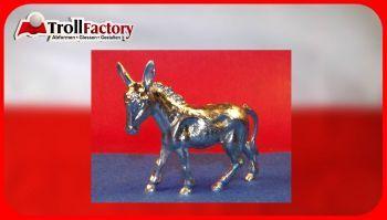 Zinngießform Esel, ca. 220g Reinzinn