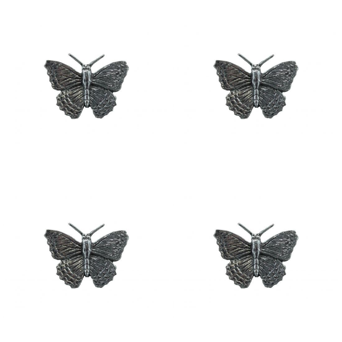 4 x Pin Anstecker Badge Schmetterling klein, 2,5x2,cm