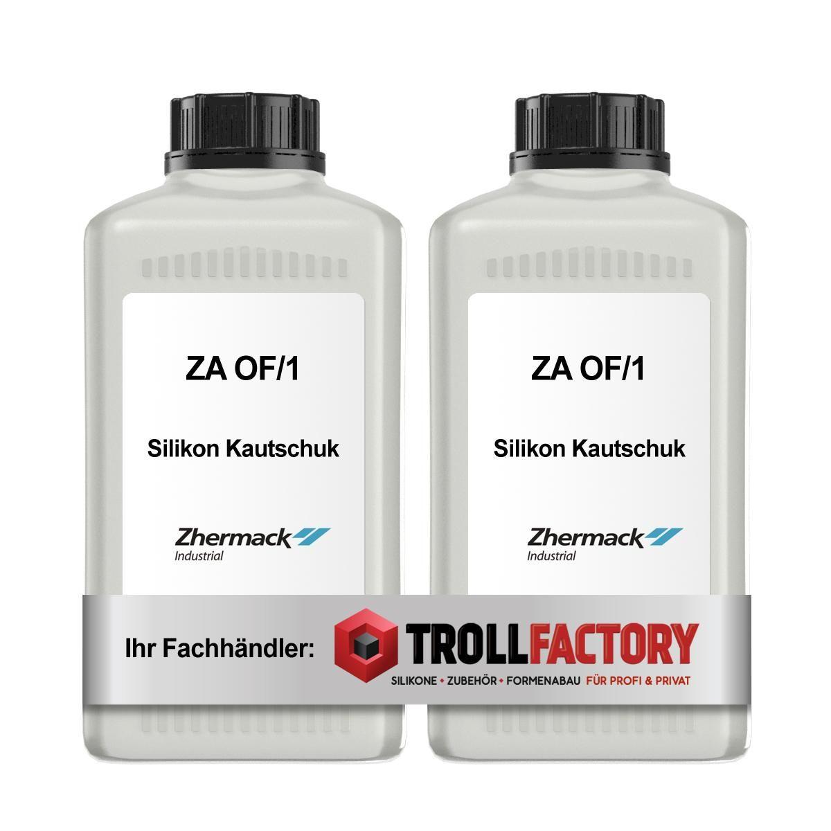 Zhermack Silikon Kautschuk ZA OF1 Verguss transluzent gelartig