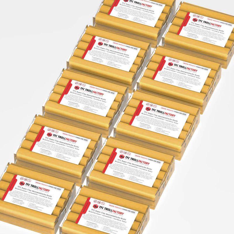 TFC SUPER CLAY Knete ocker Modelliermasse hochfeine Textur geschmeidig formstabil dauerplastisch