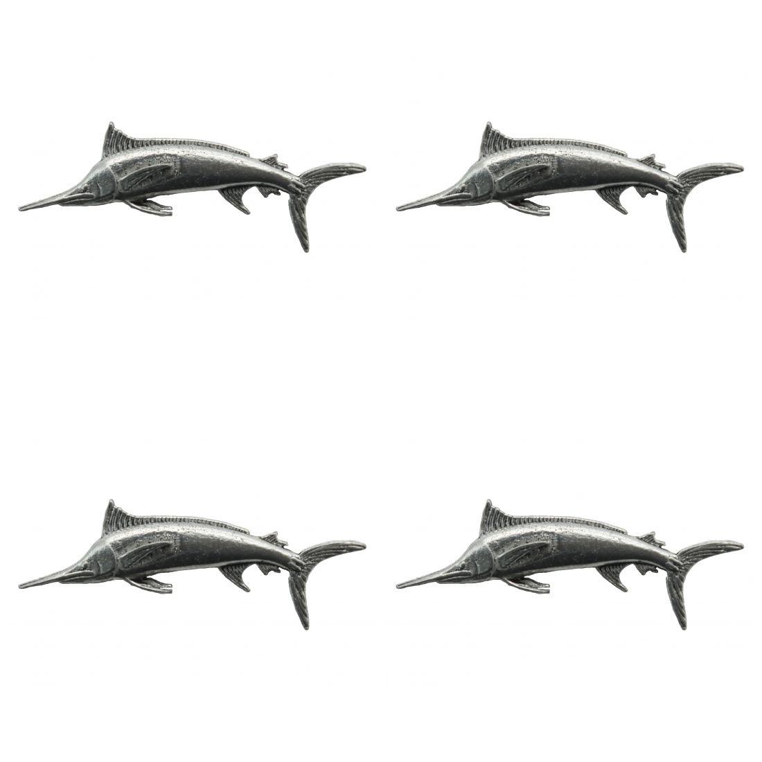 4 x Pin Anstecker Badge Marlin