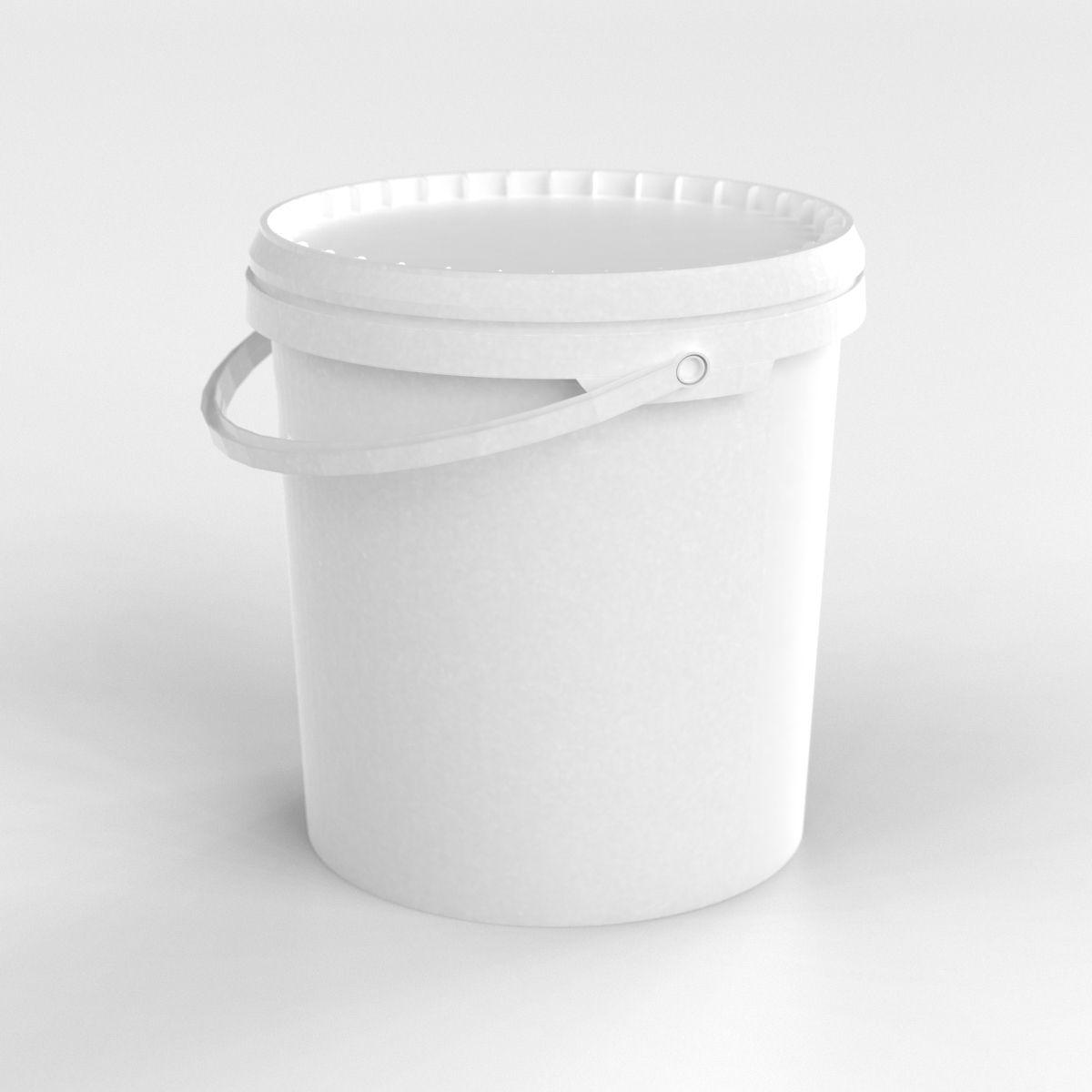 TFC Eimer Kunststoff leer weiss 6,5 Liter Henkel Deckel mit Sicherheitsverschluss