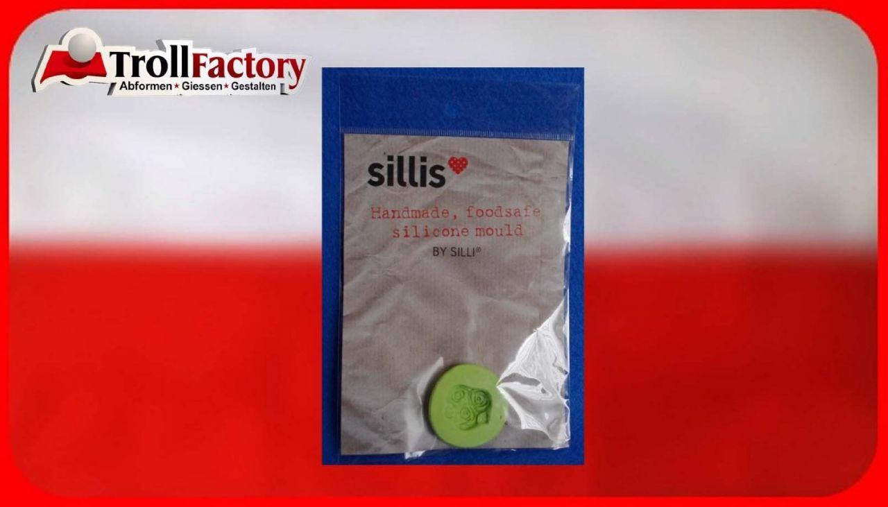 SILLI Silikonform Lebensmittel Süße Rose, ca. 2,2x2,2cm