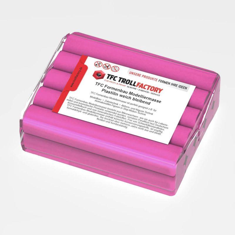 TFC Formenbau Modelliermasse pink Plastilin weich bleibend schwefelfrei