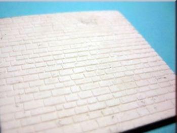 Silikonform Spur N Bodenplatte unregelmäßige Steinform.