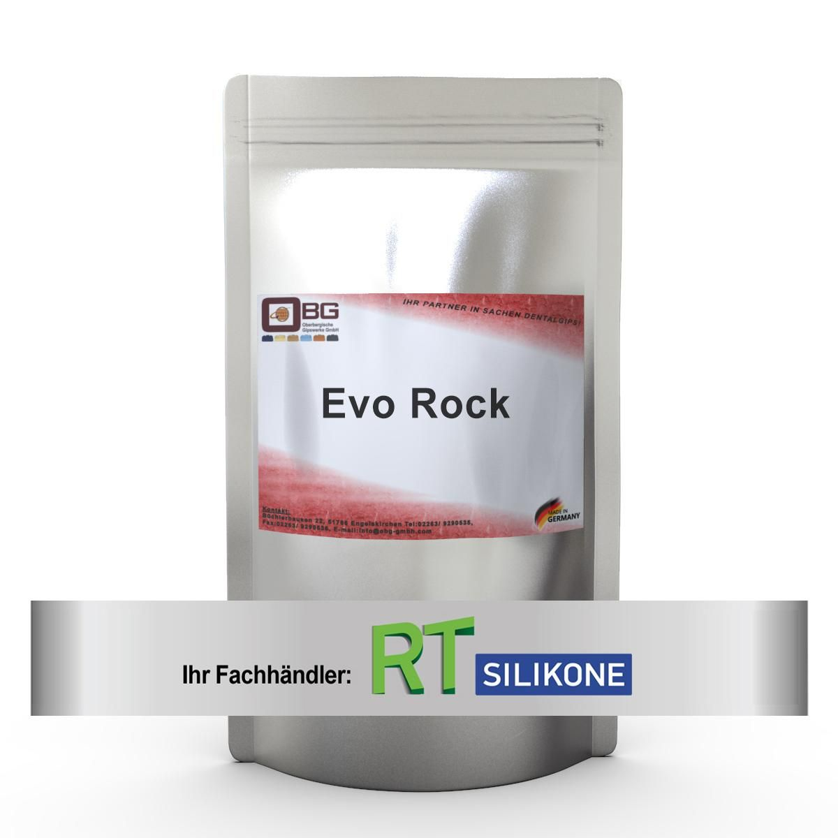 EVO Rock Zahnkranzgips light grey 5:1