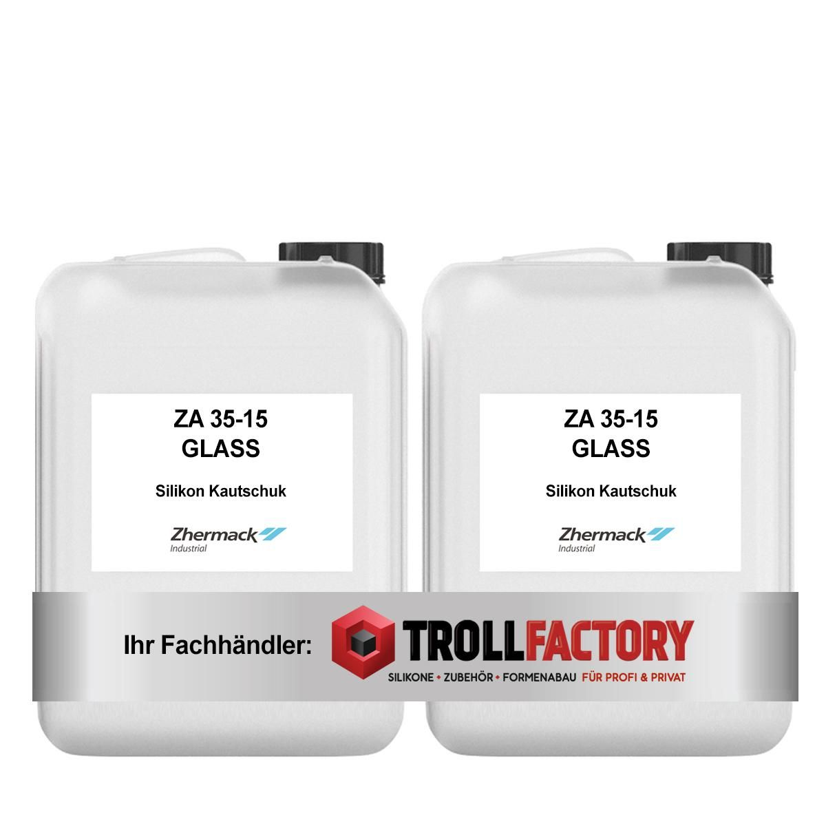 Zhermack Silikon Kautschuk ZA 35-15 GLASSKLAR Glas Special Effect 10kg