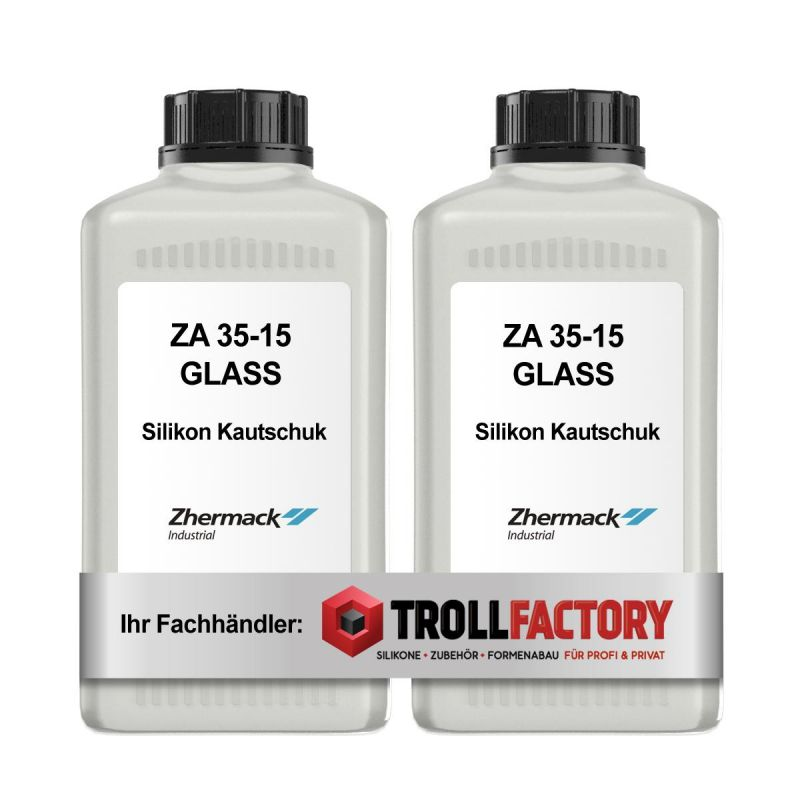 Zhermack Silikon Kautschuk ZA 35-15 GLASSKLAR Glas Special Effect