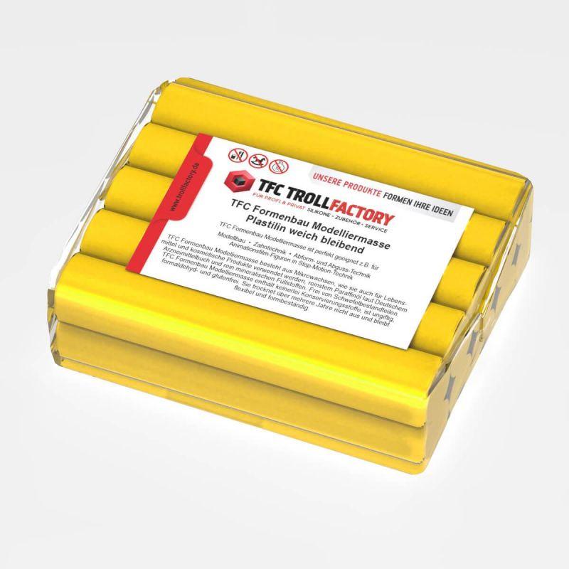 TFC Formenbau Modelliermasse gelb Plastilin weich bleibend schwefelfrei