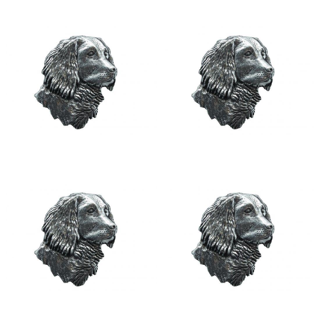 4x Pin Anstecker Badge Kopf Cockerspaniel, 2,4x3cm
