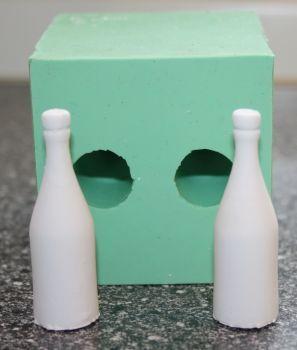 Kerzenform Giessform 2 kleine Flaschen