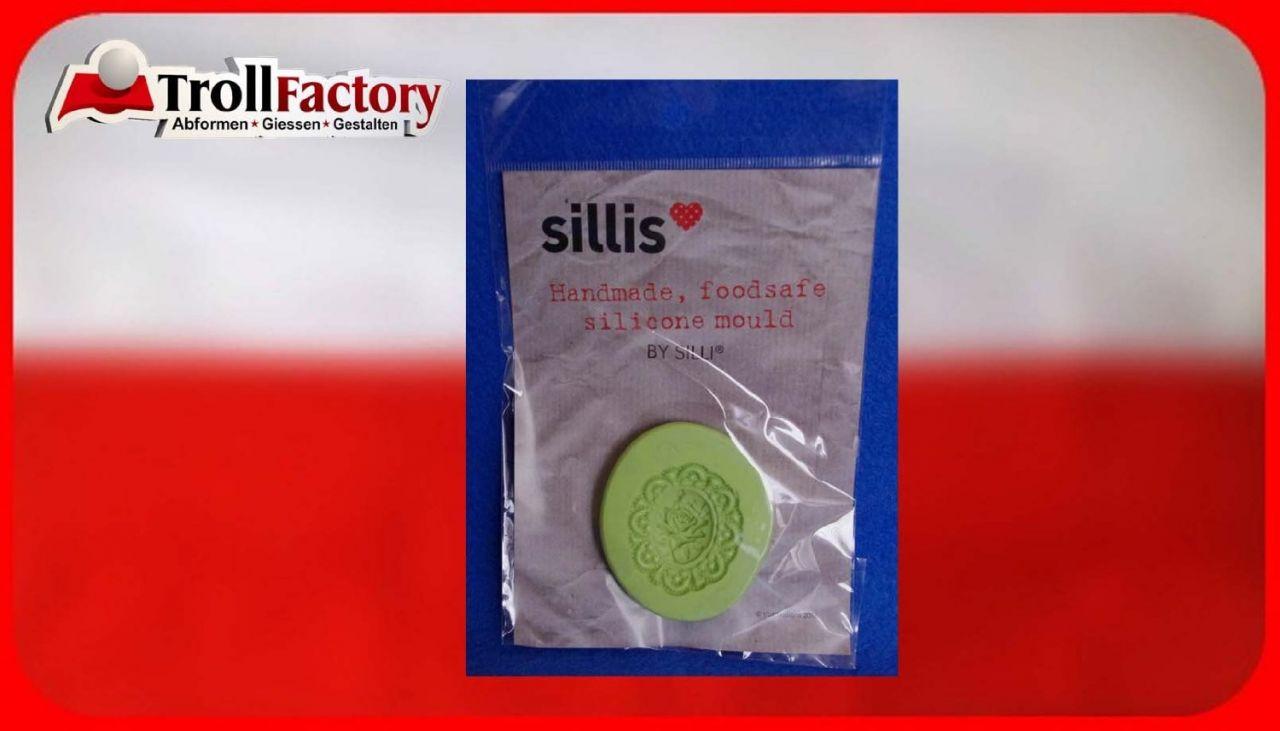SILLI Silikonform Lebensmittel Brosche Rose, ca. 3,5x4cm