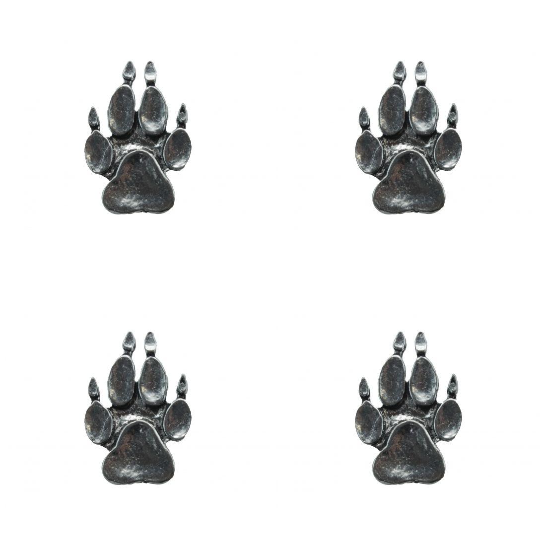 4x Pin Anstecker Badge Tatze Pfote Klaue , 1,9x2,7cm