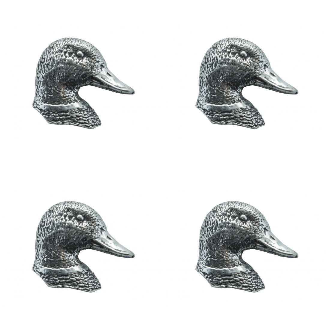 4 x Pin Anstecker Badge Entenkopf, 2,6x2,6cm