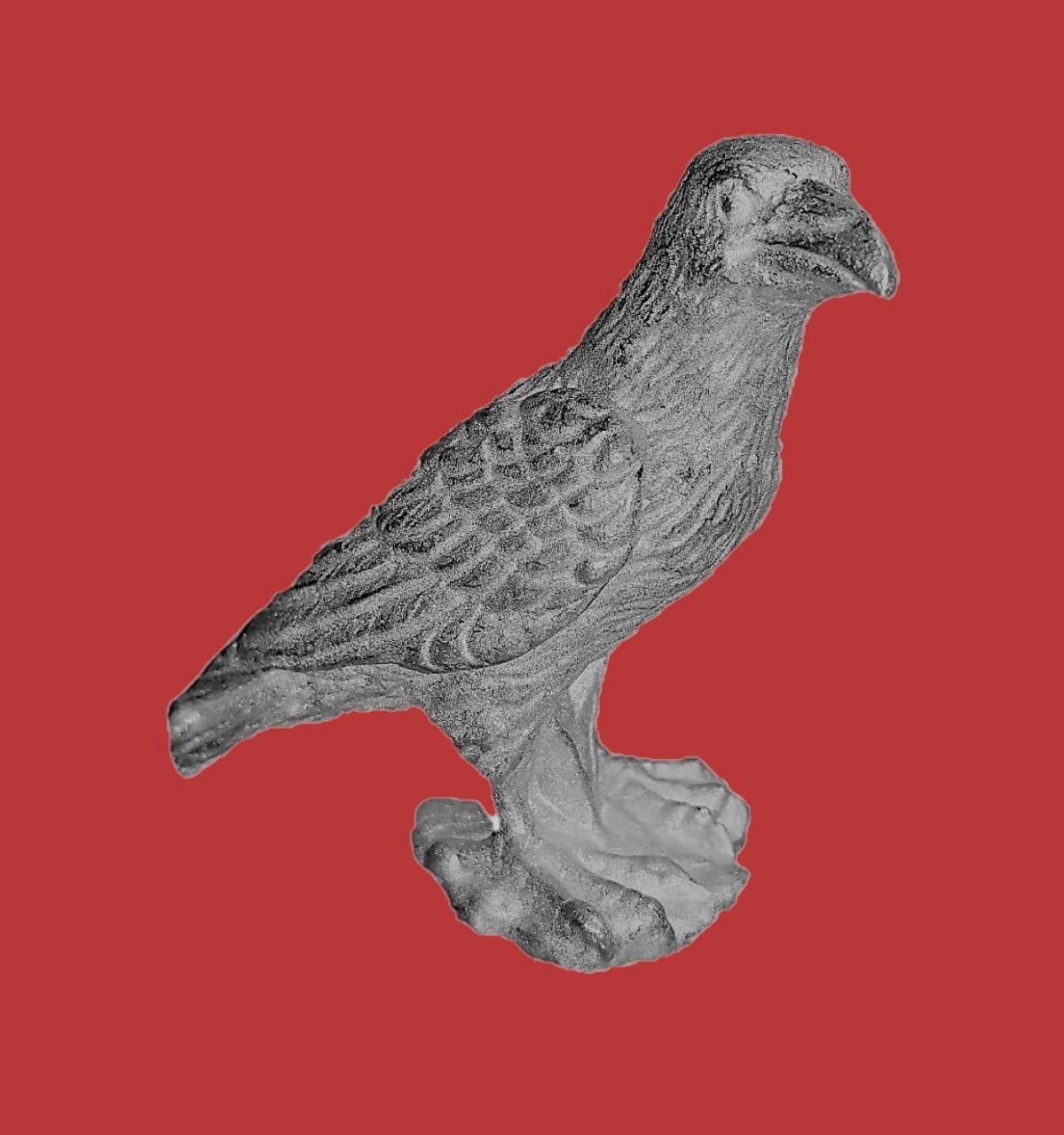 Zinngießform Greifvogel Raabe, ca. 138g Reinzinn