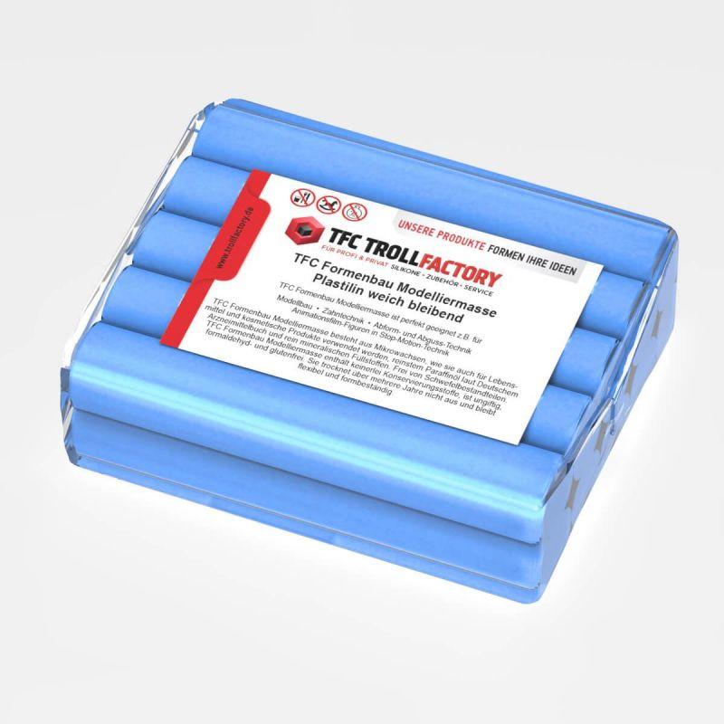 TFC Formenbau Modelliermasse hellblau Plastilin weich bleibend schwefelfrei