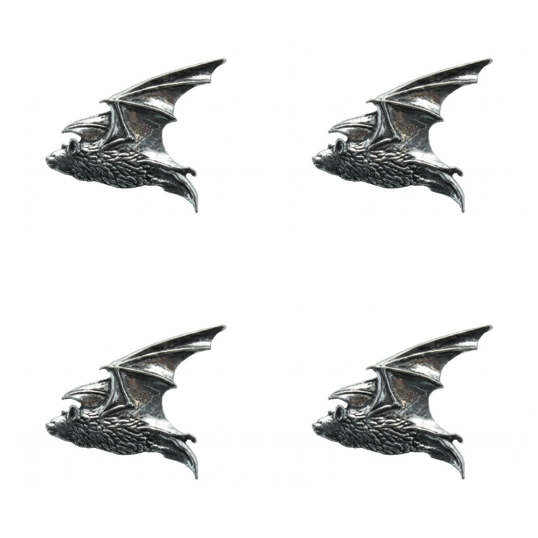4 x Pin Anstecker Badge Fledermaus, 3x2,9cm