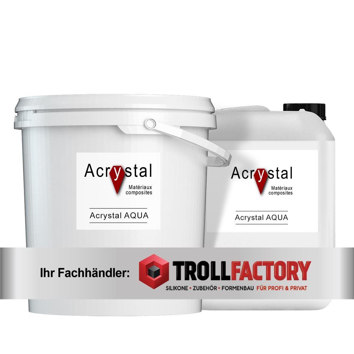 Acrystal AQUA Set Harz + Pulver 1:7 - Größe: 8kg (1kg+7kg)