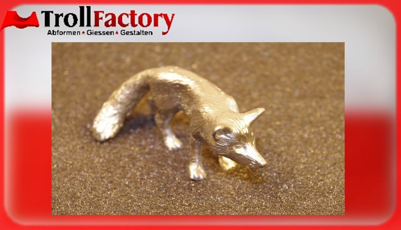Zinngießform Fuchs Reinecke, ca. 90g Reinzinn