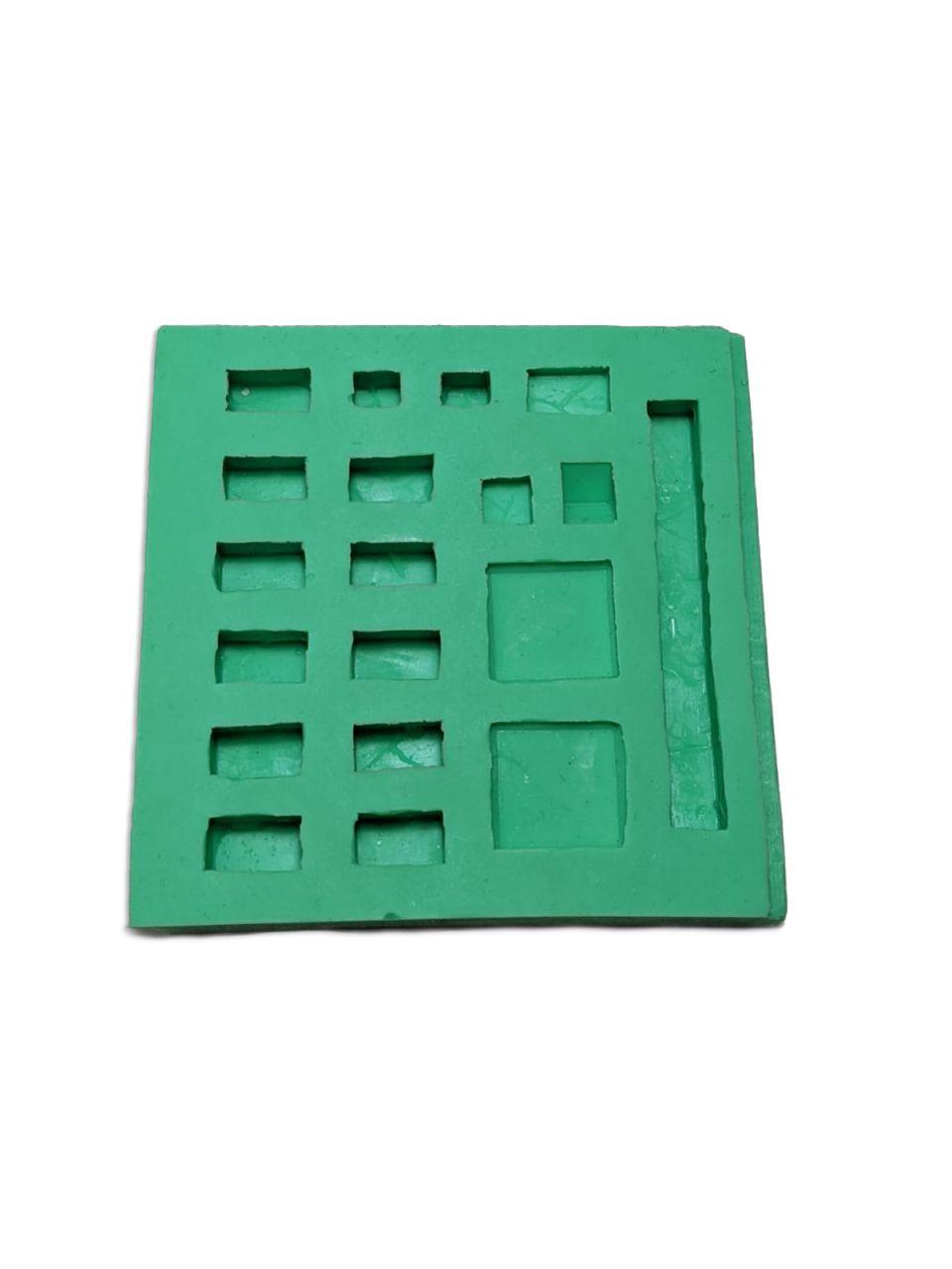 Giessform Silikonform Basissteine für den Krippenbau Set 1