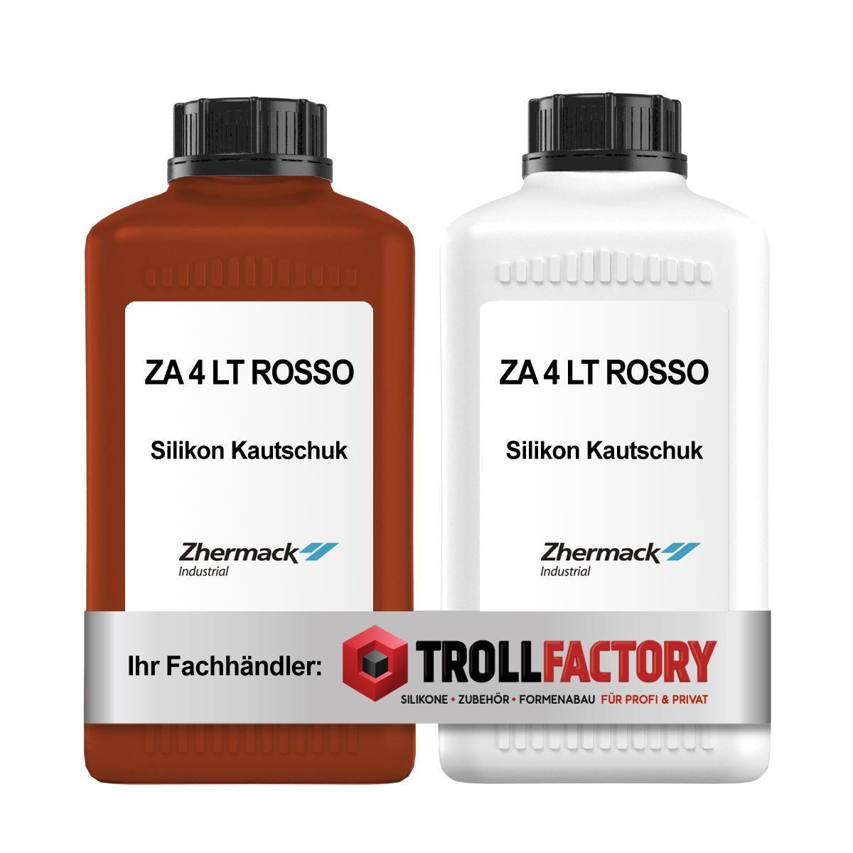 Zhermack Silikon ZA 4 LT ROSSO Shore Härte 4 1+1kg