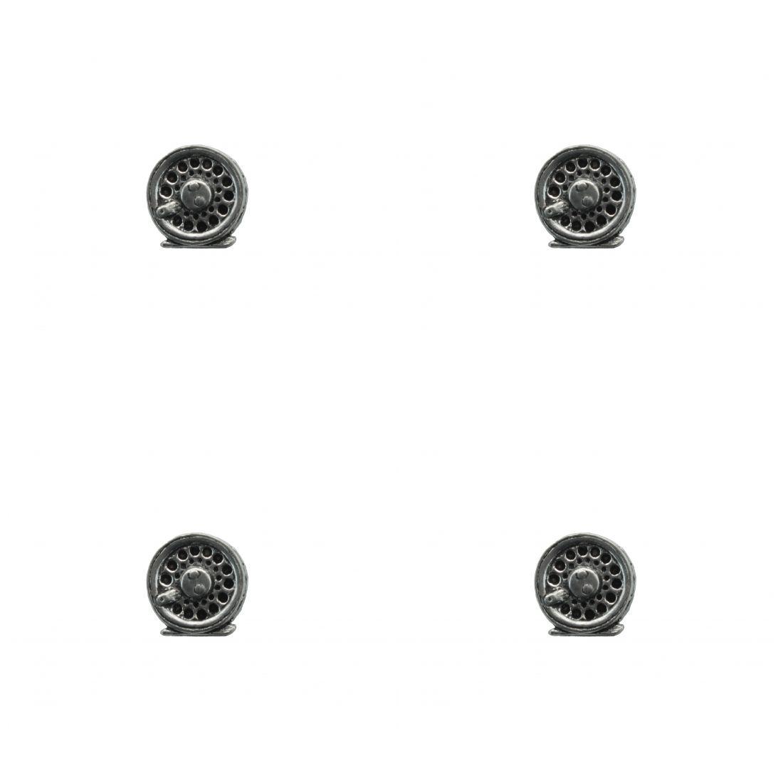 4 x Pin Anstecker Badge Mühle zum Fliegenfischen