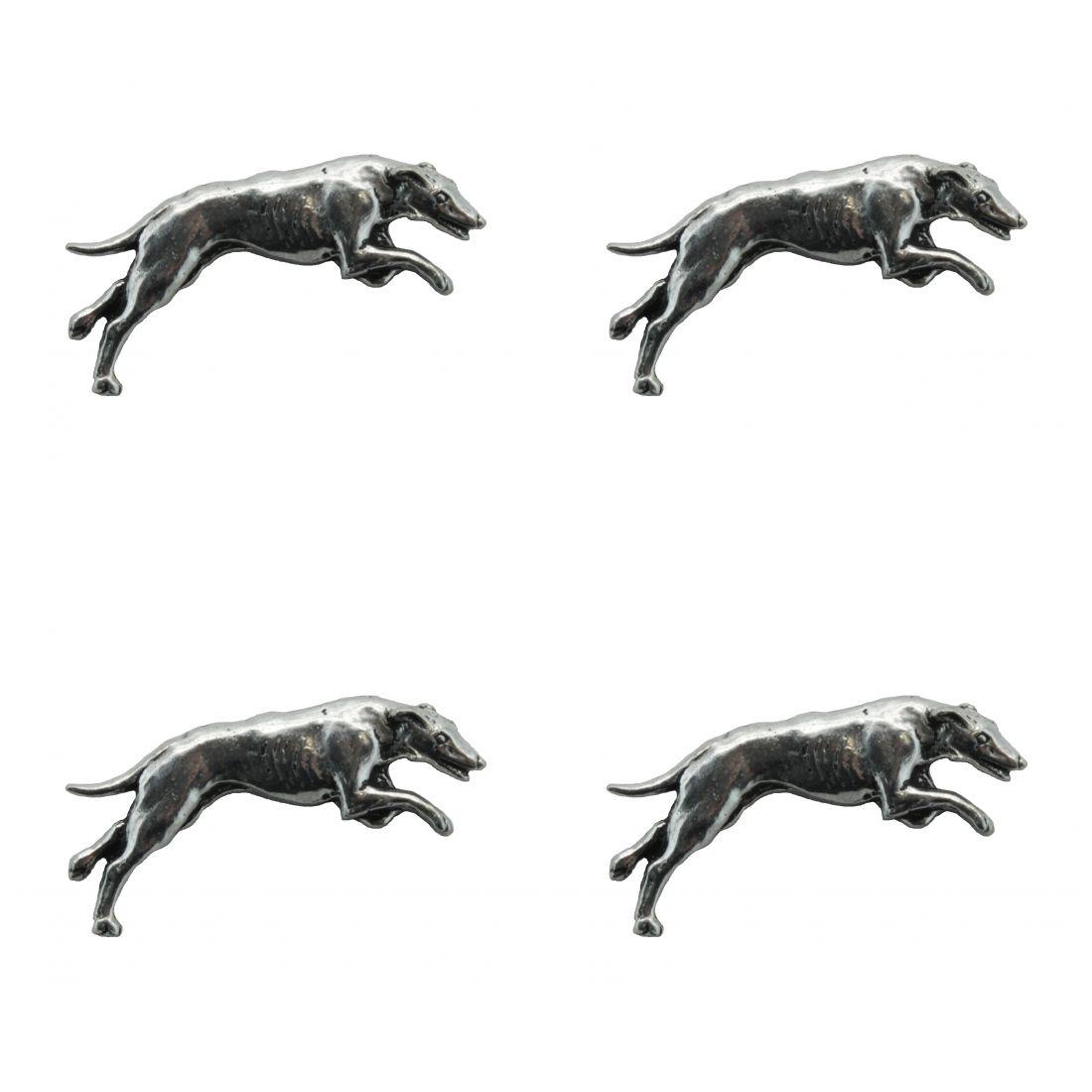 4 x Pin Anstecker Badge Windhund, 3,9x1,4cm