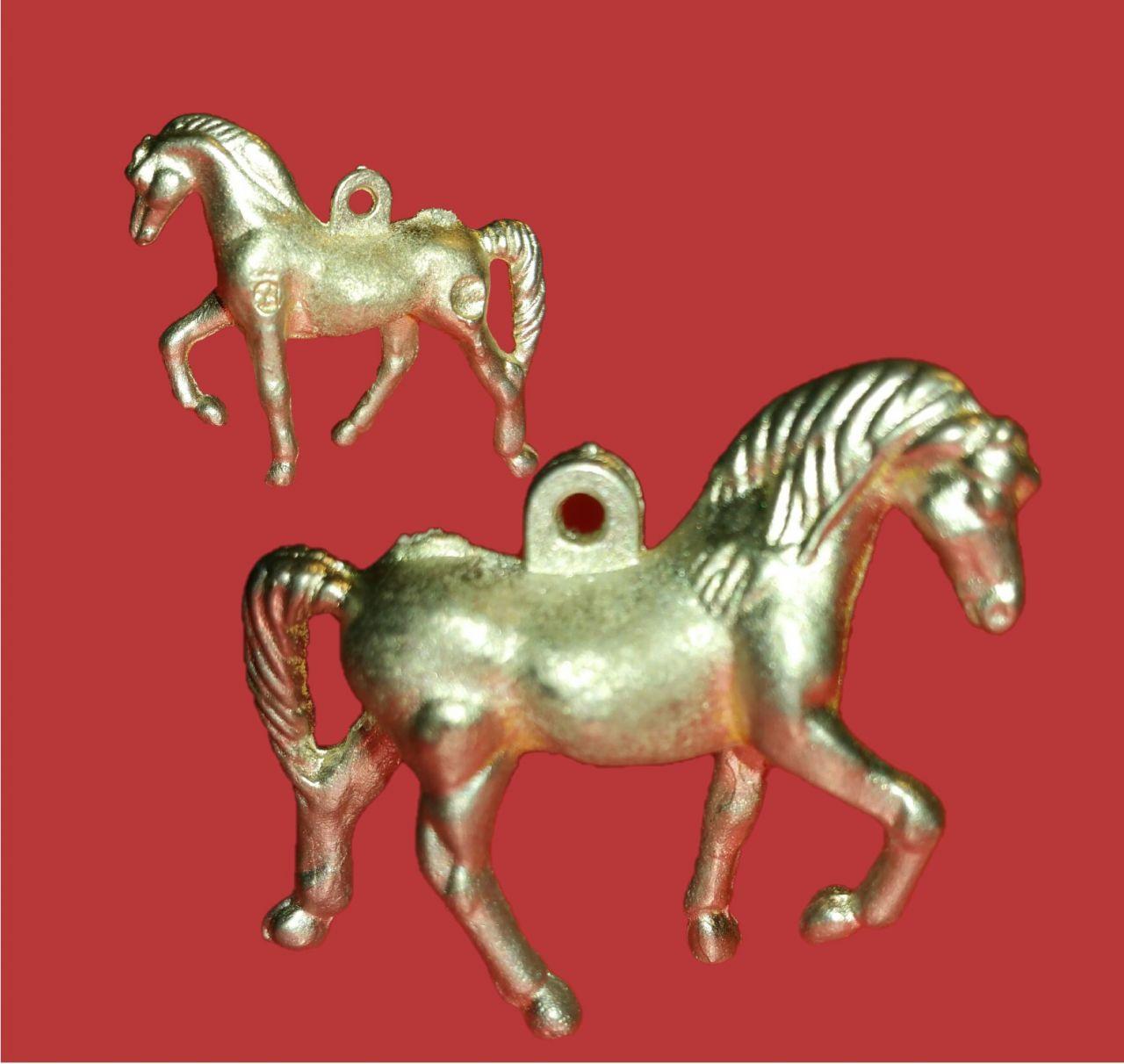 Zinngießform Kleines Pferd-Änhänger , ca. 16 g Reinzinn