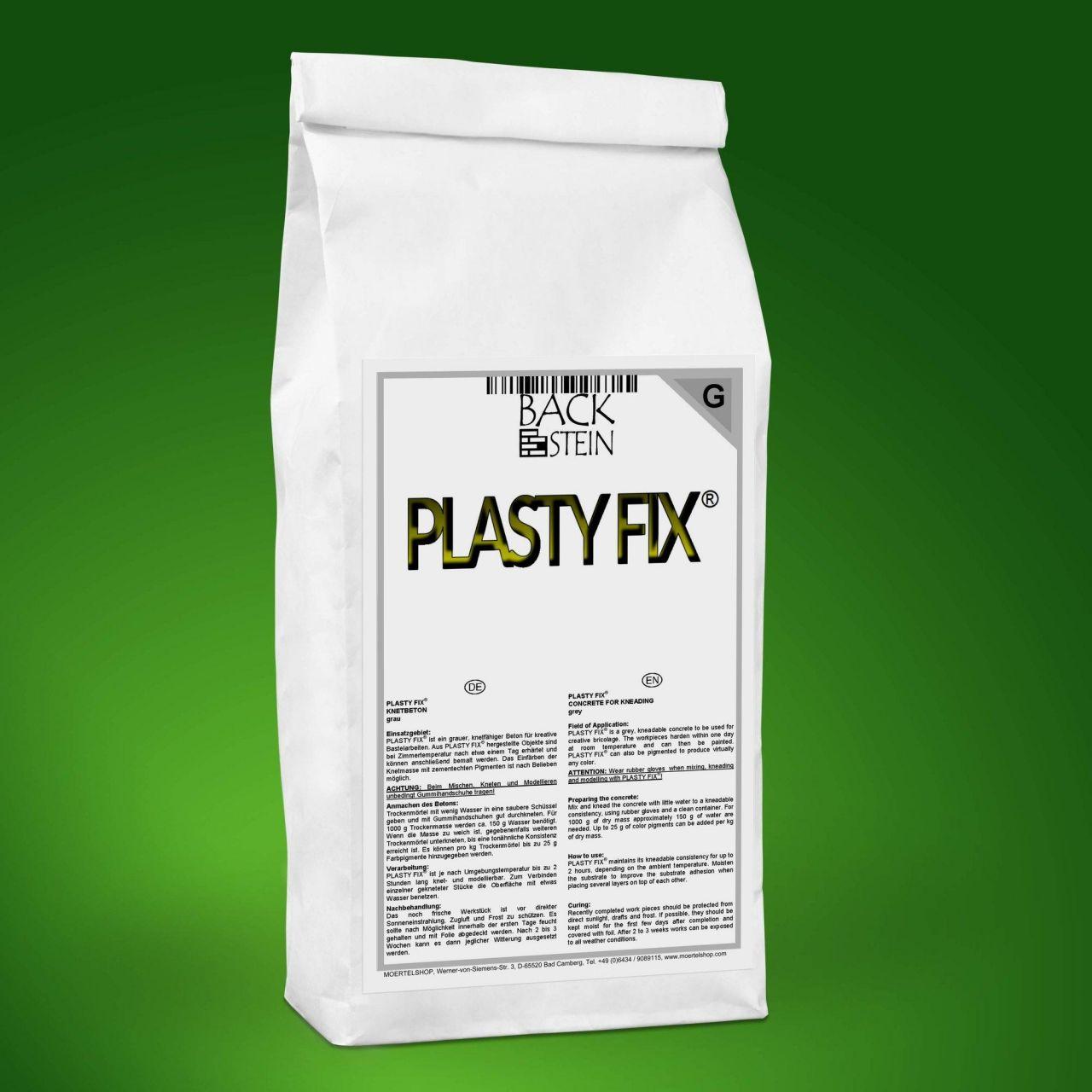 PLASTY FIX Knetbeton grau - Auswahl: 25kg