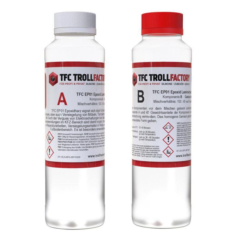 TFC EP01 Epoxy Resin Epoxid Giessharz Laminierharz bis 10mm inkl. Einweghandschuhe