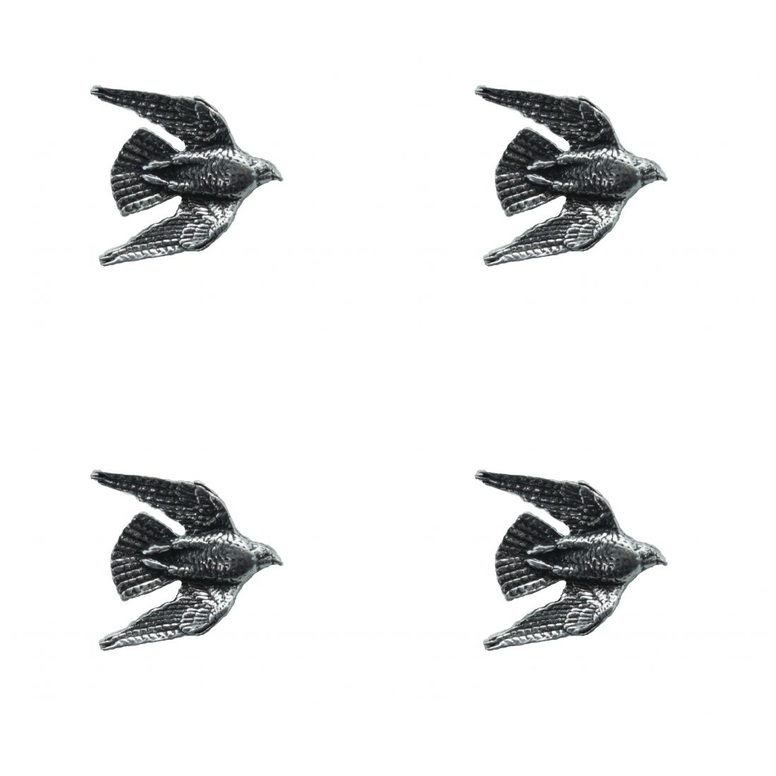 4 x Pin Anstecker Badge Falke im Sturzflug, 2,3x2,5cm