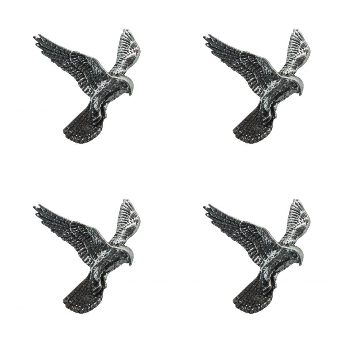 4 x Pin Anstecker Badge Turmfalke, 3,8x3,5cm