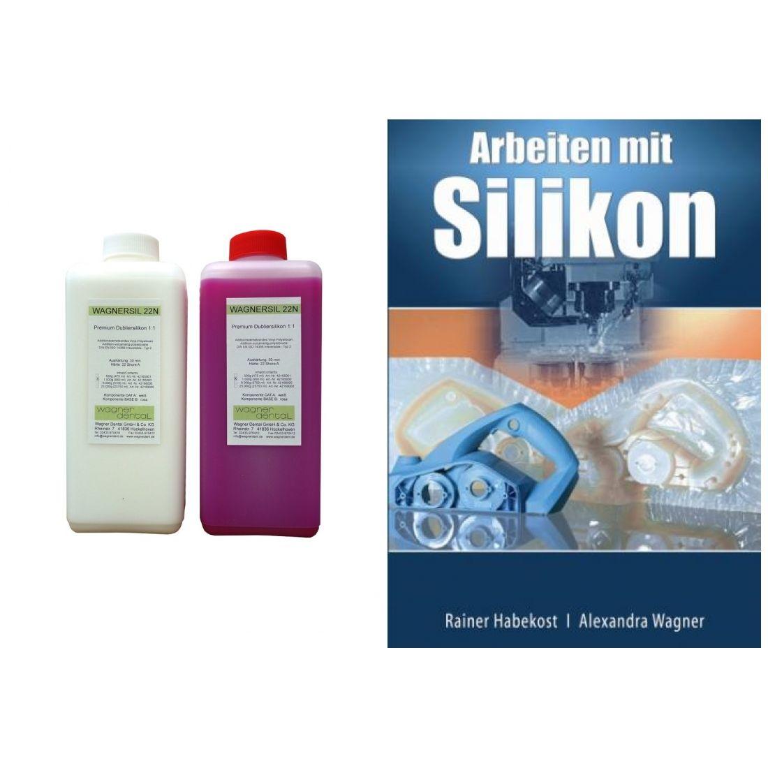 Wagnersil Premium 22 N rosa Shore 22 EFZ 30 min 1:1 im Set mit Buch Arbeiten Silikon von Rainer Habe