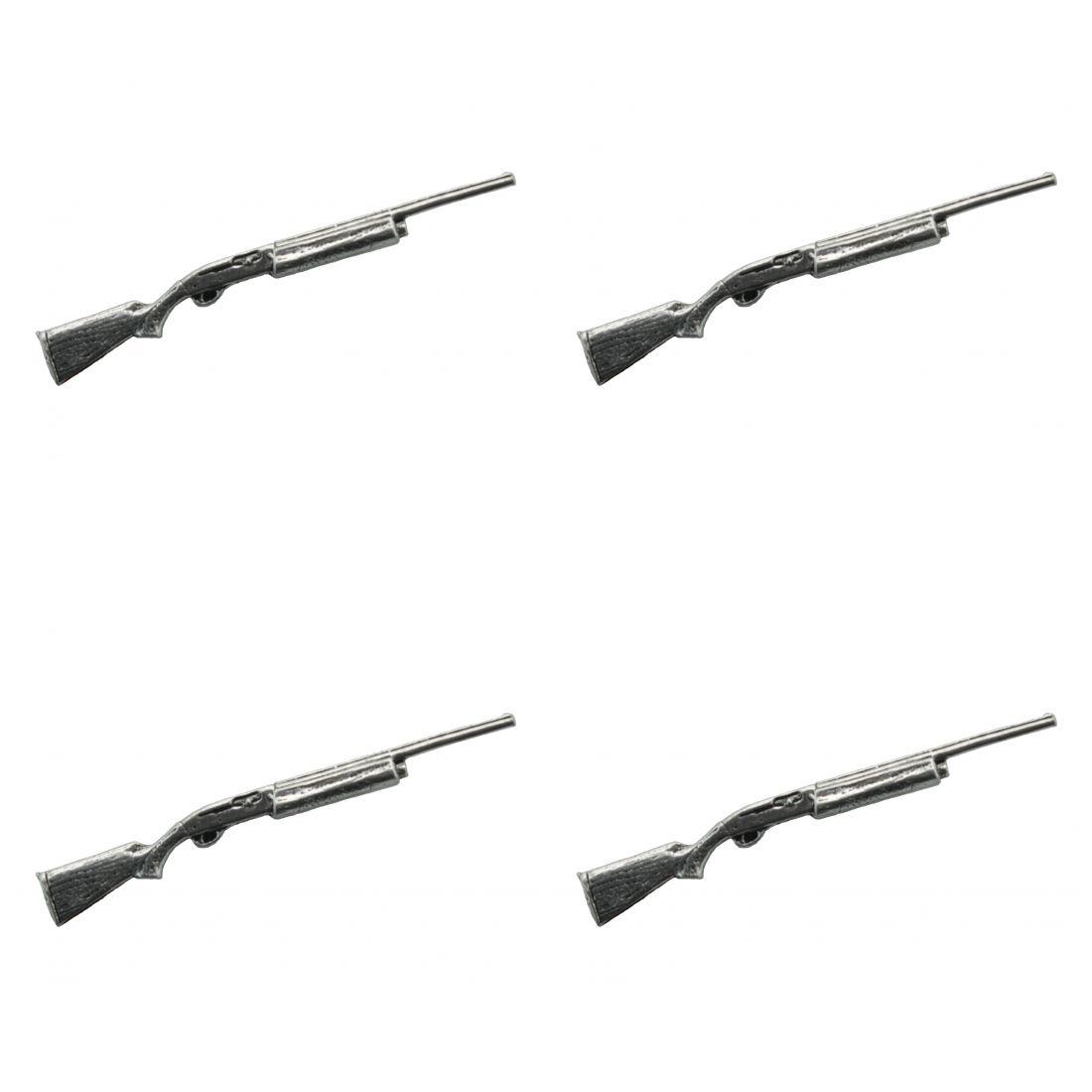 4 x Pin Anstecker Badge Automatisches Gewehr