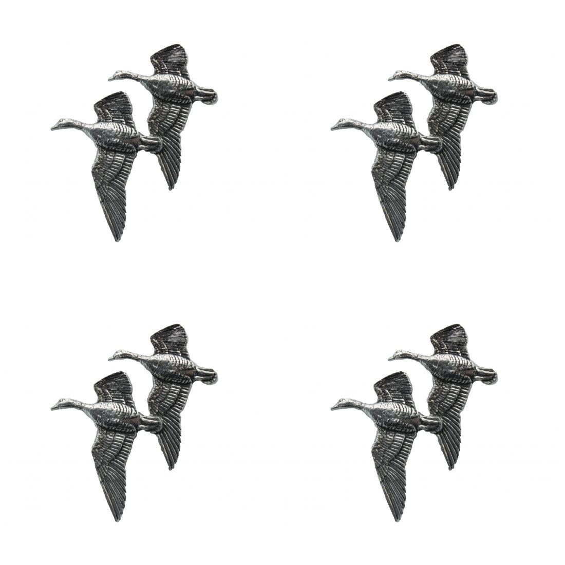 4 x Pin Anstecker Badge Gänse fliegend