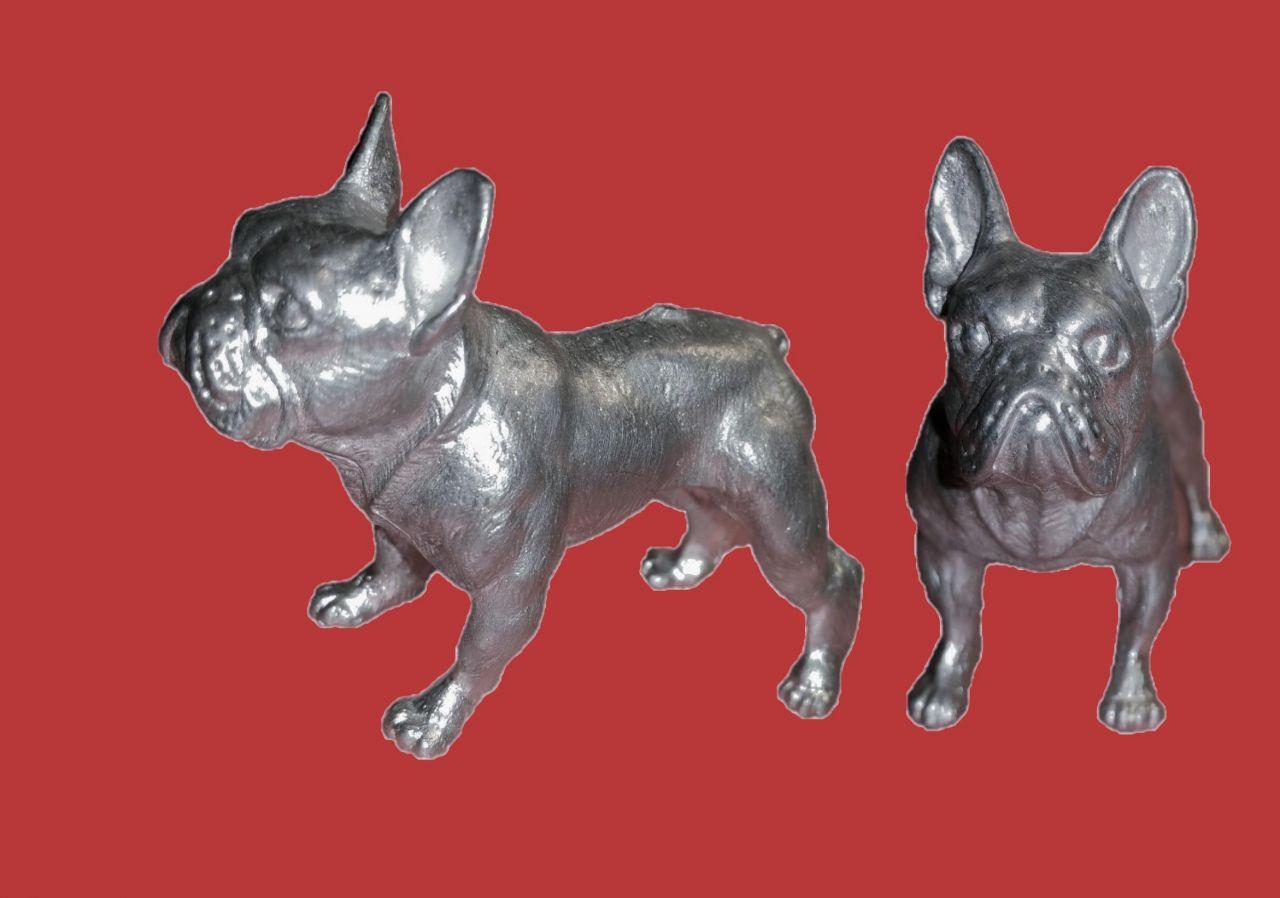 Zinn Giessform Englische Bulldogge Silikonform hitzebeständig - benötigt ca. 220g Reinzinn