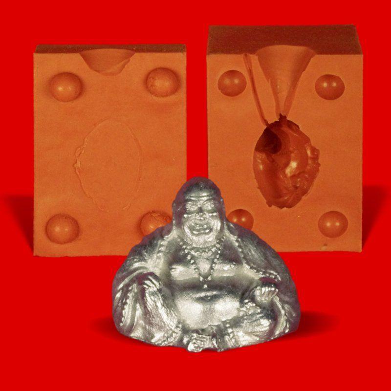 Zinngießform Buddha, ca. 65g Reinzinn
