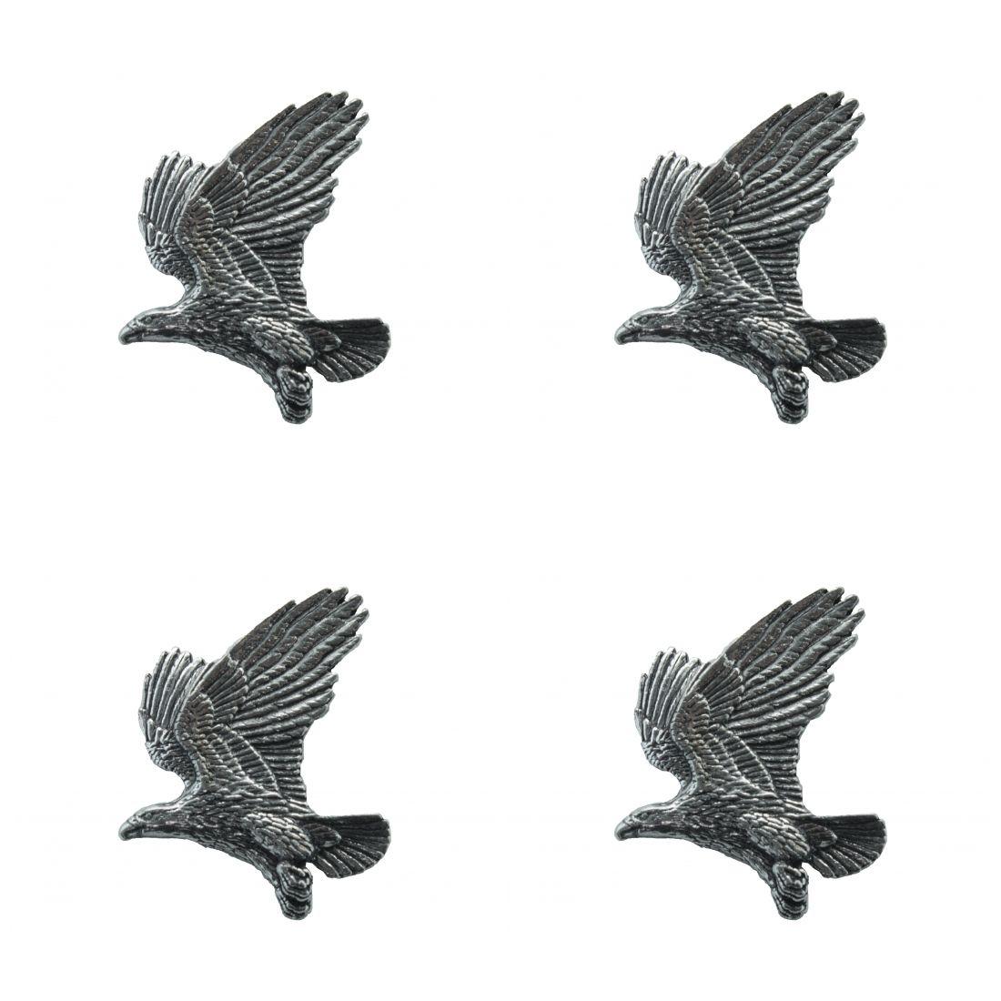 4 x Pin Anstecker Badge Adler, 4,1x2,6cm