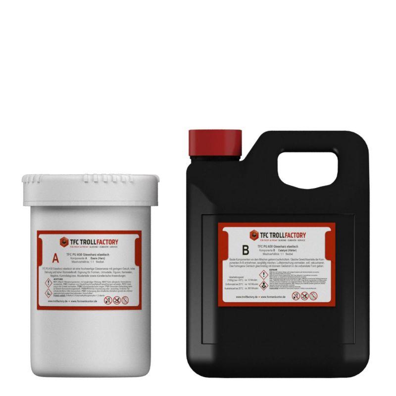 TFC PU A50 Giessharz Resin Elastomer flexibel Shore 50 elastisch