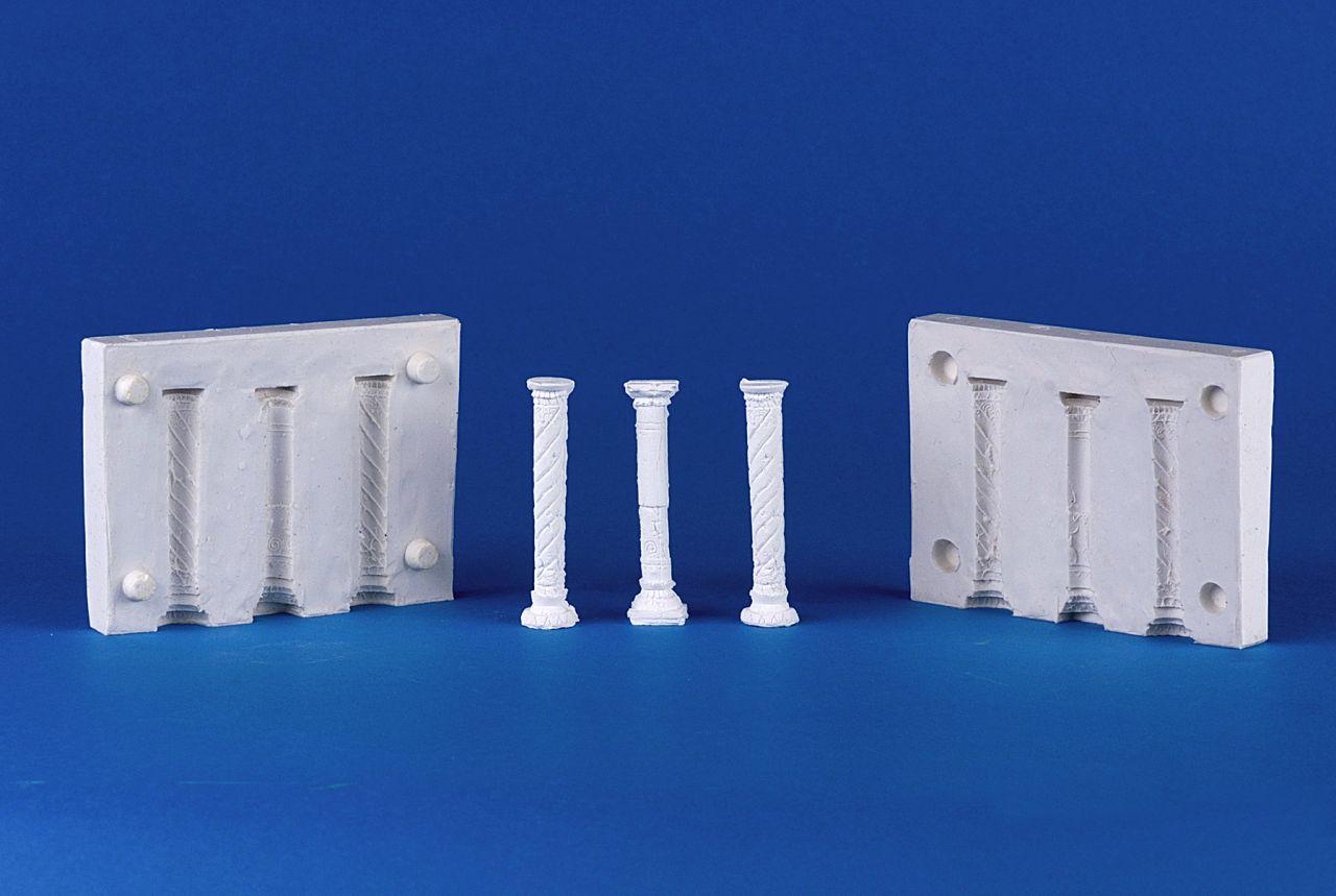 Silikonform 3 Säulen, D.: 9mm, H.: 71mm