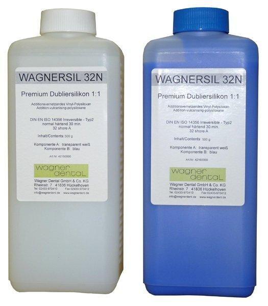 Wagnersil Premium 32 N blau Shore 32 EFZ 30 min 1:1